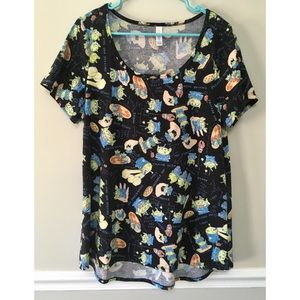 LuLaRoe Disney Toy Story Black Classic T, Large